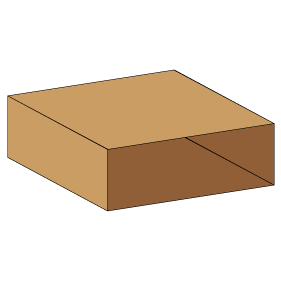 Kasse indlæg F502 - 5 mm pap