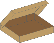Konfektions kasse 701 - 5 mm pap